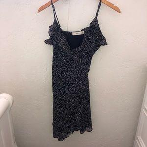 Abercrombie Midi Floral Wrap-Front Dress